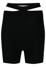 ADAMO ribbed-knit cycling shorts - Nero