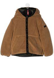 faux-shearling hooded jacket