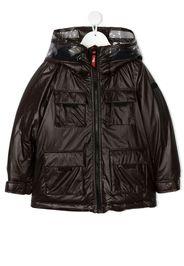 heat-reactive hooded coat
