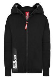 AI Riders On The Storm TEEN zipped lens hoodie - Nero