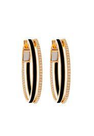 18kt yellow gold diamond Spectrum hoop earrings