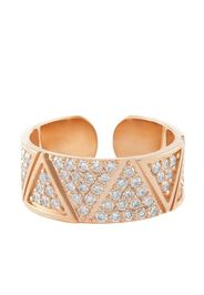 Anello in oro rosa 18kt con diamanti