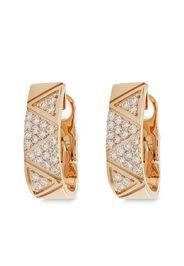 Alessa 18kt rose gold Elixir Continuity pavé hoop earrings - Rosa