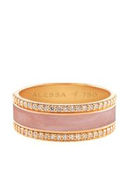 Alessa 18kt rose gold Spectrum diamond border ring - Rosa