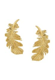 18kt yellow gold Plume Feather stud earrings