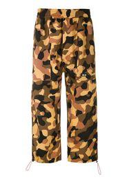 Pantaloni crop Oxford con stampa camouflage