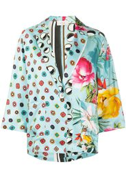 floral geometric print jacket