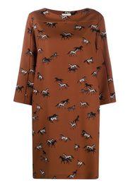 horse-print midi dress