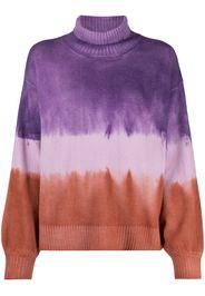 tie-dye knitted jumper