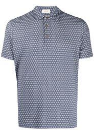 Altea floral-print polo shirt - Blu