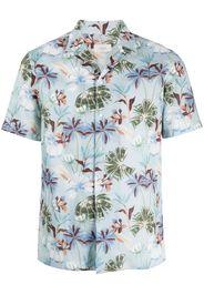Altea Camicia a fiori - Blu