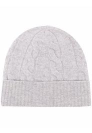 Altea cable knit beanie hat - Grigio