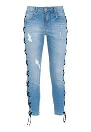 Jeans skinny con lacci