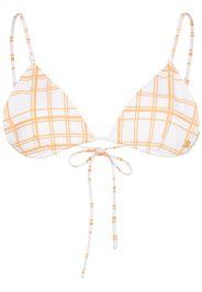 Gigi checked triangle bikini top