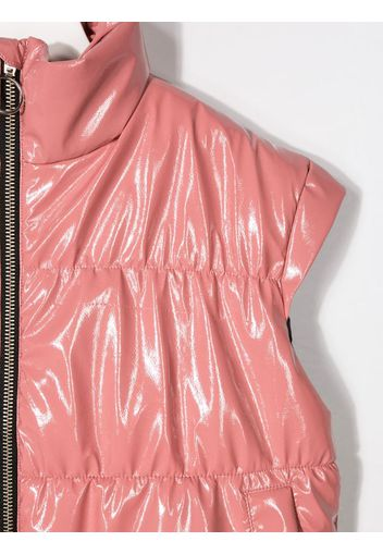 leather look gilet
