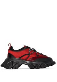 Red and Black Dragon Teeth Low Top Sneakers