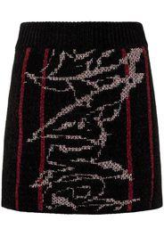 jacquard knit mini skirt