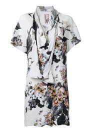printed draped blouse