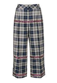 Pantaloni crop a quadri