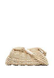 beige beaded shoulder bag