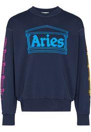 logo column print sweatshirt