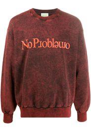 slogan long-sleeve sweatshirt