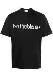 slogan-print short-sleeved T-shirt