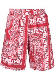 Aries Costume da bagno con stampa paisley - Rosso