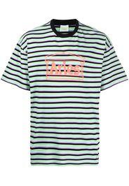 Aries logo-print stripe-pattern T-shirt - Verde