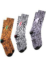 Aries pack of three zebra-print socks - Nero