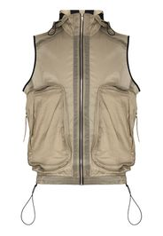 ARNAR MAR JONSSON oversized zipped pockets gilet - Verde