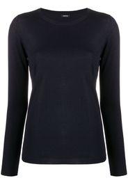 scoop-neck fine knit jumper