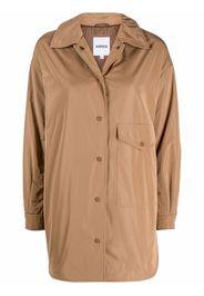 Aspesi press-stud fastening shirt coat - Marrone