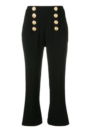 Pantaloni stile marinaro crop