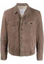 Baracco single-breasted leather jacket - Toni neutri