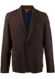 single breasted patch-pocket blazer
