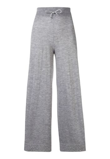 Pantaloni crop a gamba ampia