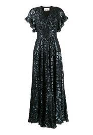 Gemma metallic leopard-print dress