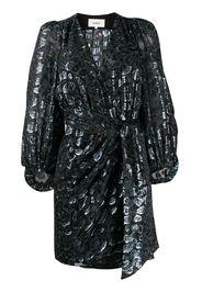 Ginger metallic wrap dress