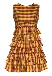 printed ruffle skirt mini dress