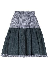 Batsheva Amy mixed print tiered skirt - Blu