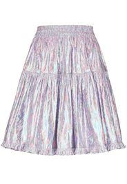 high-shine full mini skirt