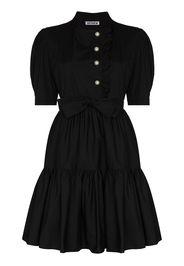 Batsheva ruffle-detail belted dress - Nero