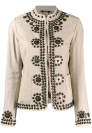 studded mock-neck jacket