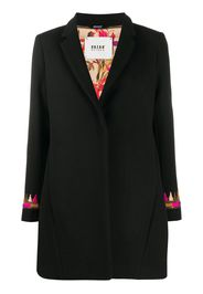 embroidered single-breasted coat