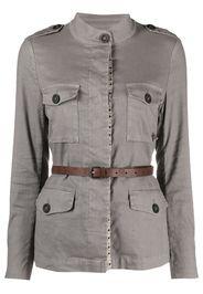 Bazar Deluxe belted shirt jacket - Grigio