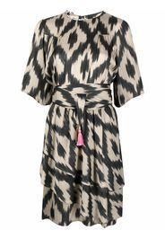Bazar Deluxe abstract-print ruffled dress - Toni neutri