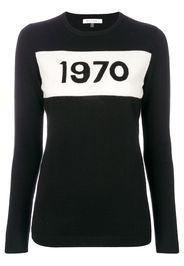 Bella Freud Pullover a girocollo '1970' - Nero