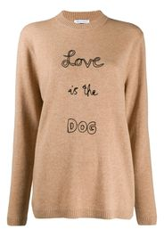 slogan knit jumper