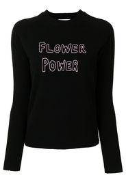 Bella Freud 'flower power' slogan jumper - Nero